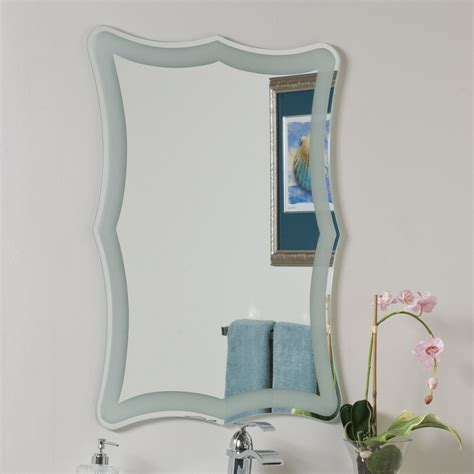 Bathroom Frameless Mirror Decor Ssm183 Coquette Frameless Bathroom Mirror