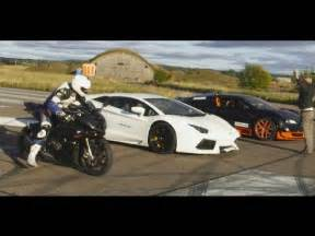 Bugattis And Lamborghinis Ultra Hd 4k Drag Race Bugatti Veyron Vitesse Vs Lambo