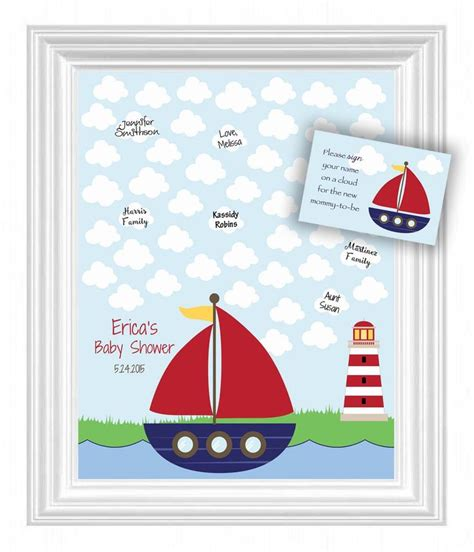 enfold theme guestbook baby shower guest 16x20 sign in poster nautical theme baby