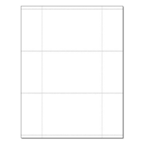 white 3 up 3 5 quot x 5 quot perforated postcard and index card
