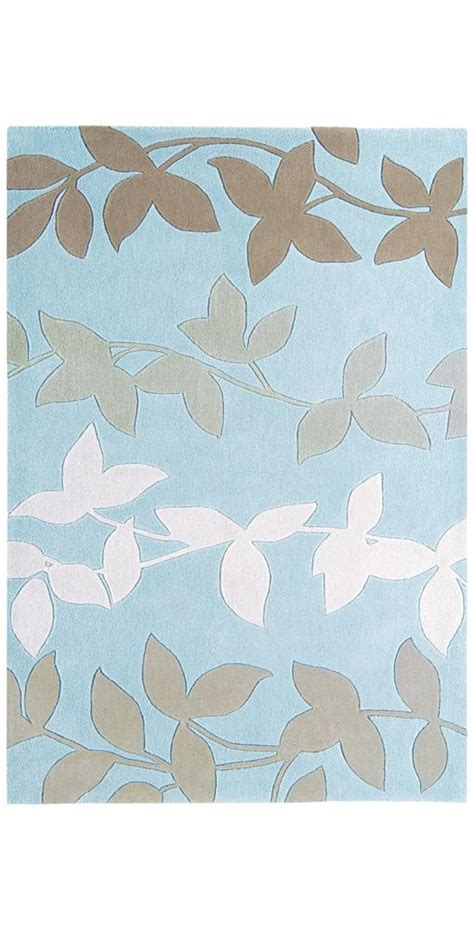 duck egg blue and brown rug duck egg blue rug with brown leaf decoration hp021775 ebay