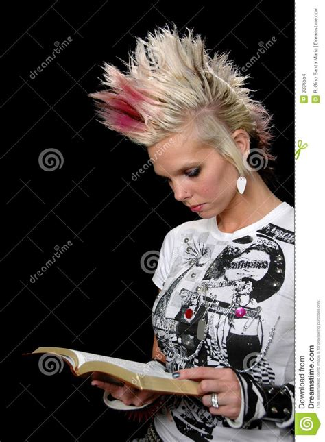 how to do punk punk girl with bible stock photo image of theology