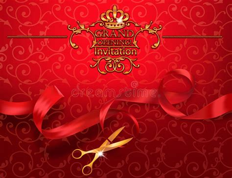 invitation card design for grand opening red grand opening invitation card with scissors and red