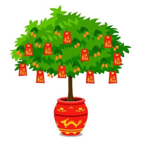 fortune tree new year happy pets new year props