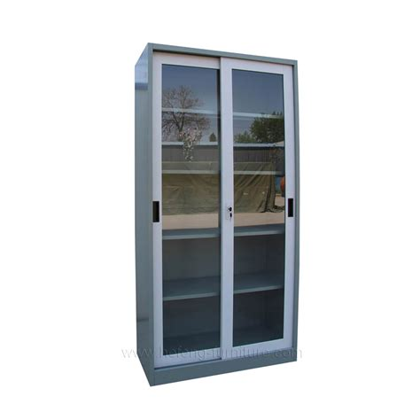 Sliding Glass Doors For Cabinets Metal Storage Cabinet With Glass Doors Best Storage Design 2017