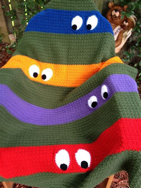 crochet pattern ninja turtle blanket ravelry kathy862 s teenage mutant ninja turtle blanket