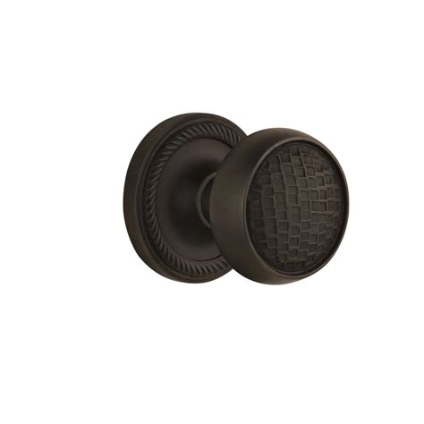 Nostalgic Warehouse Rope Rosette Interior Mortise Interior Door Knobs Rubbed Bronze