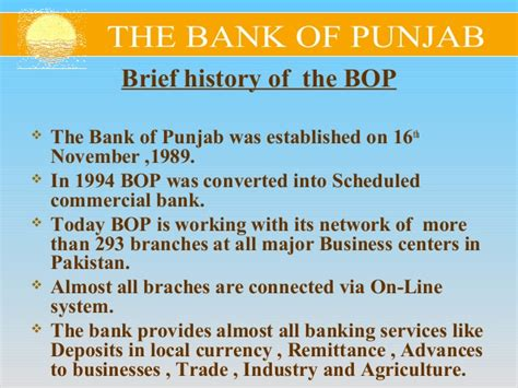 Mba Agribusiness In Banks by Bank Of Punjab Mba Project