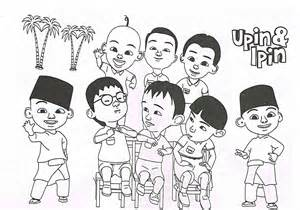 Upin Ipin Coloring Pages Complete sketch template
