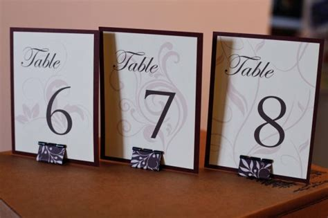 table card holders wedding template diy table numbers and stands weddingbee photo gallery