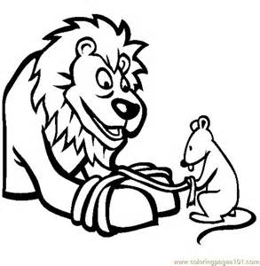 lion mouse coloring free mouse coloring pages coloringpages101