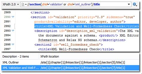 xpath search pattern xpath support oxygen xml editor