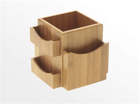 Tidy Home Cleaning by Revolving Desk Tidy Bamboo Office Supplies