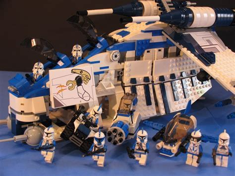 lego wars starwars brick lego 174 brick wars custom 7676 blue 501 republic