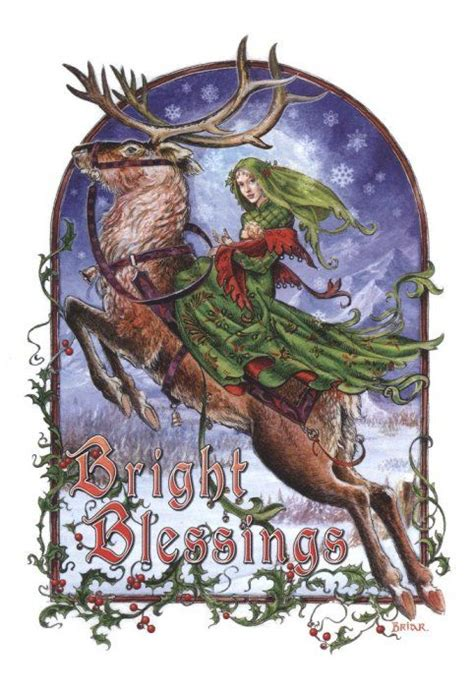 image of winters blessing christmas tree cards and yule on