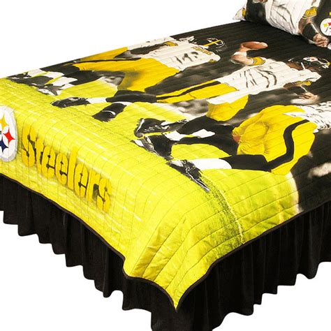 steelers bedding pittsburgh steelers twin full comforter set play action