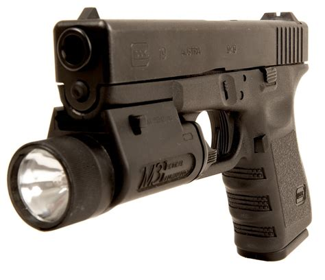 Deactivated Glock 19 Semi Automatic With Tactical Light