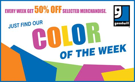 goodwill color of the week schedule 28 images color of