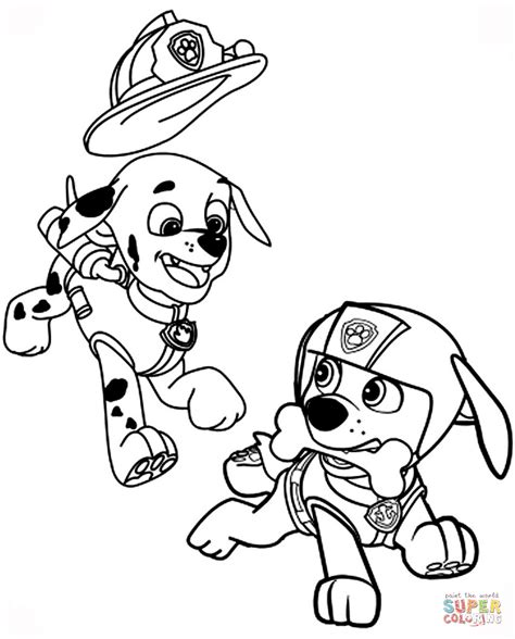 paw patrol zuma free colouring pages
