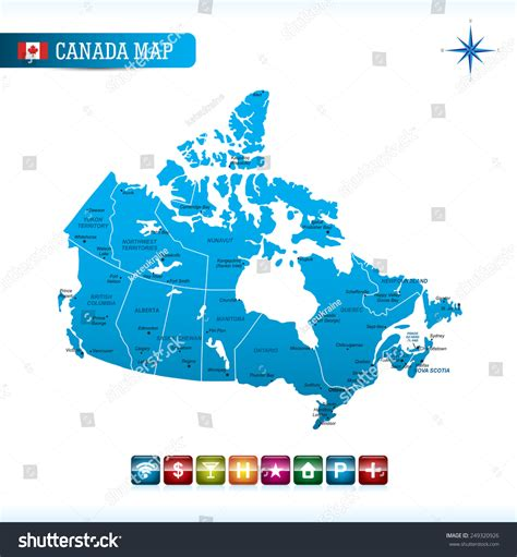 canada map vector canada map stock vector illustration 249320926