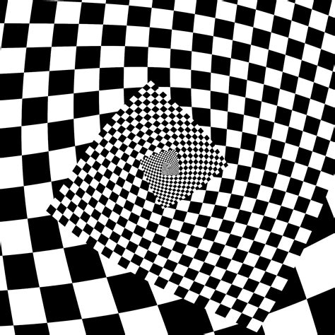 svg checker pattern clipart droste checkered spiral