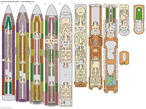 Cruise Ship Floor Plans by Carnival Cruise Ship Elation Deck Plans Pinterest