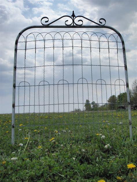 Metal Trellis Fence Woven Wire Garden Gates Or Trellises