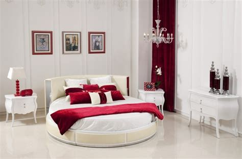 is red a good color for a bedroom red white good bedroom colors with oval bed red scheme