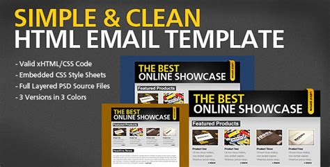 simple email html template simple clean html email template by berber themeforest