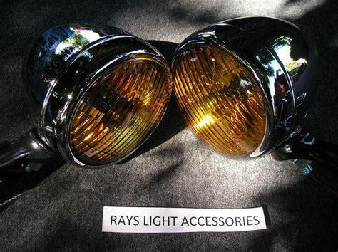 vintage amber fog lights for sale purchase bumper mount round amber glass fog lights vw bus