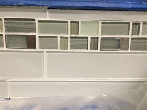 kitchen backsplash glass tile border
