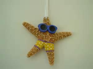 starfish christmas ornament handpainted on luulla