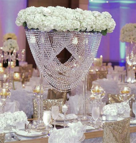 cm tall acrylic crystal table centerpiece wedding