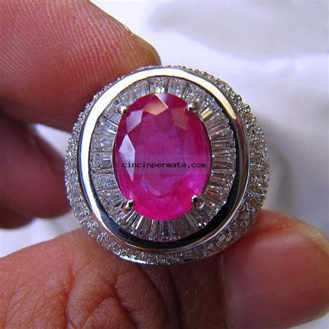 Safir Cutting 7 batu cincin permata ruby cutting cincinpermata