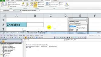 excel vba cell color excel vba activex series 2 checkbox changing cell value