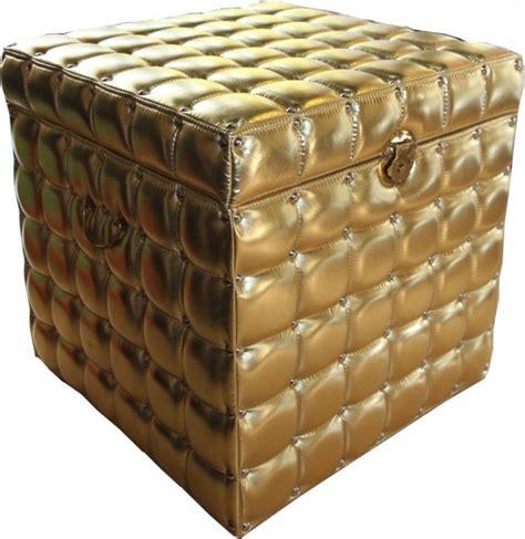 gold verkaufen bank schwere barock stil chesterfield truhe gold