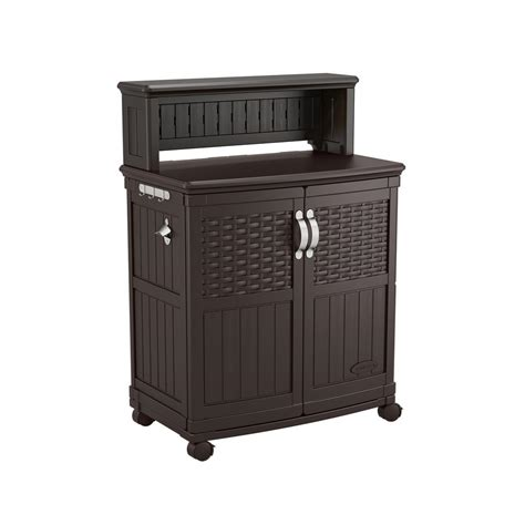 suncast outdoor storage cabinet suncast patio storage and prep station bmps6400 the home
