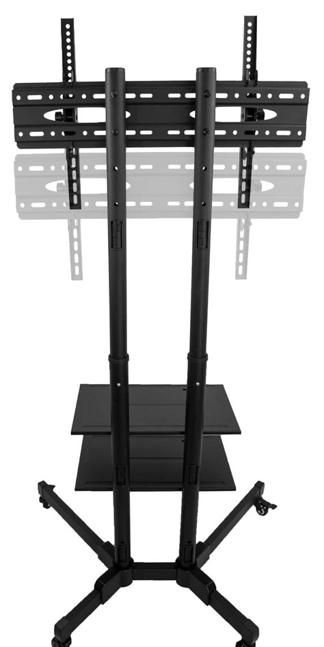 Lu Led Plasma Mobil tv cart for lcd led plasma flat panels stand with wheels