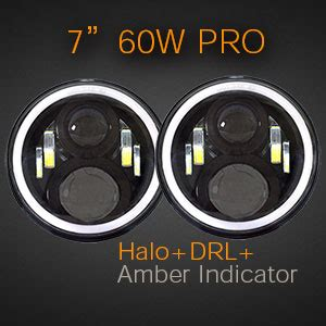 Drl 18 Watt High Grade 7 led headlight 60w halo auto line
