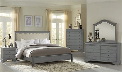 french market zinc upholstered panel bedroom set from