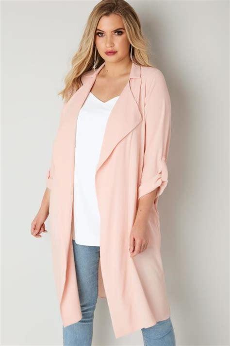 light pink plus size blazer plus size coats jackets ladies coats jackets yours