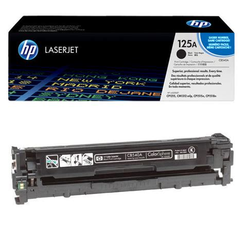 Cartridge Toner Compatible Hp Cb540a 125a Black Printer Hp Cp1215 1515 hp 125a black toner cartridge cb540a