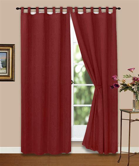 gardinen rot vorhang gardine blickdicht ornamente wein rot 140x245 cm