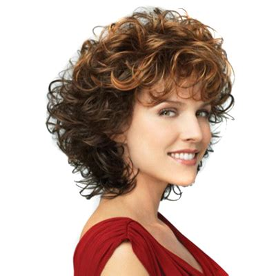 puffy woman curly hair blonde brown two colors mixed tight curly women wigs heat