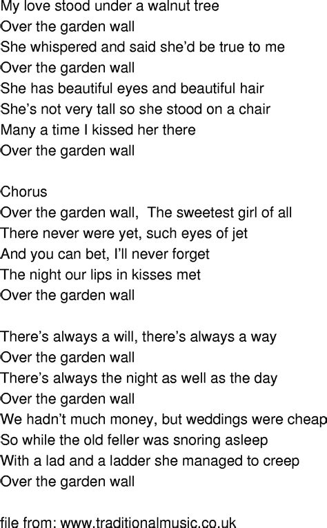 the garden wall lyrics time song lyrics the garden wall
