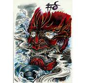 Oni Mask Tattoo Graphic  Tattoobitecom