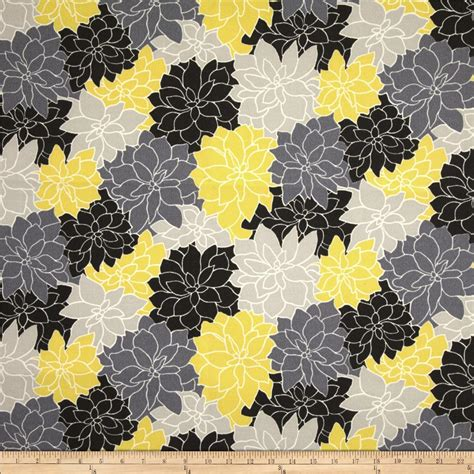 waverly sun n shade rosette lemon discount designer fabric fabric com