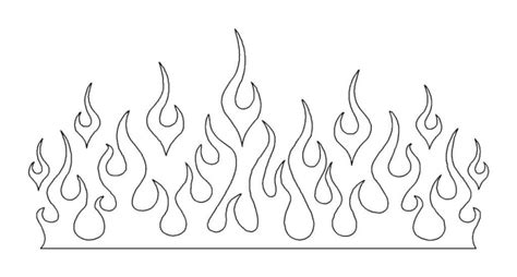 flames template paper flames template pictures to pin on pinsdaddy