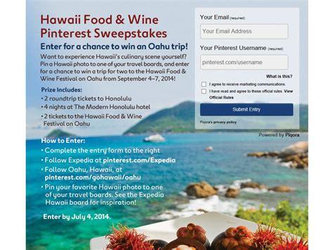 Expedia Sweepstakes - expedia hawaii food wine festival sweepstakes