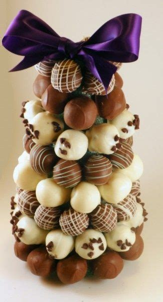 chocolate truffle tree merry christmas pinterest